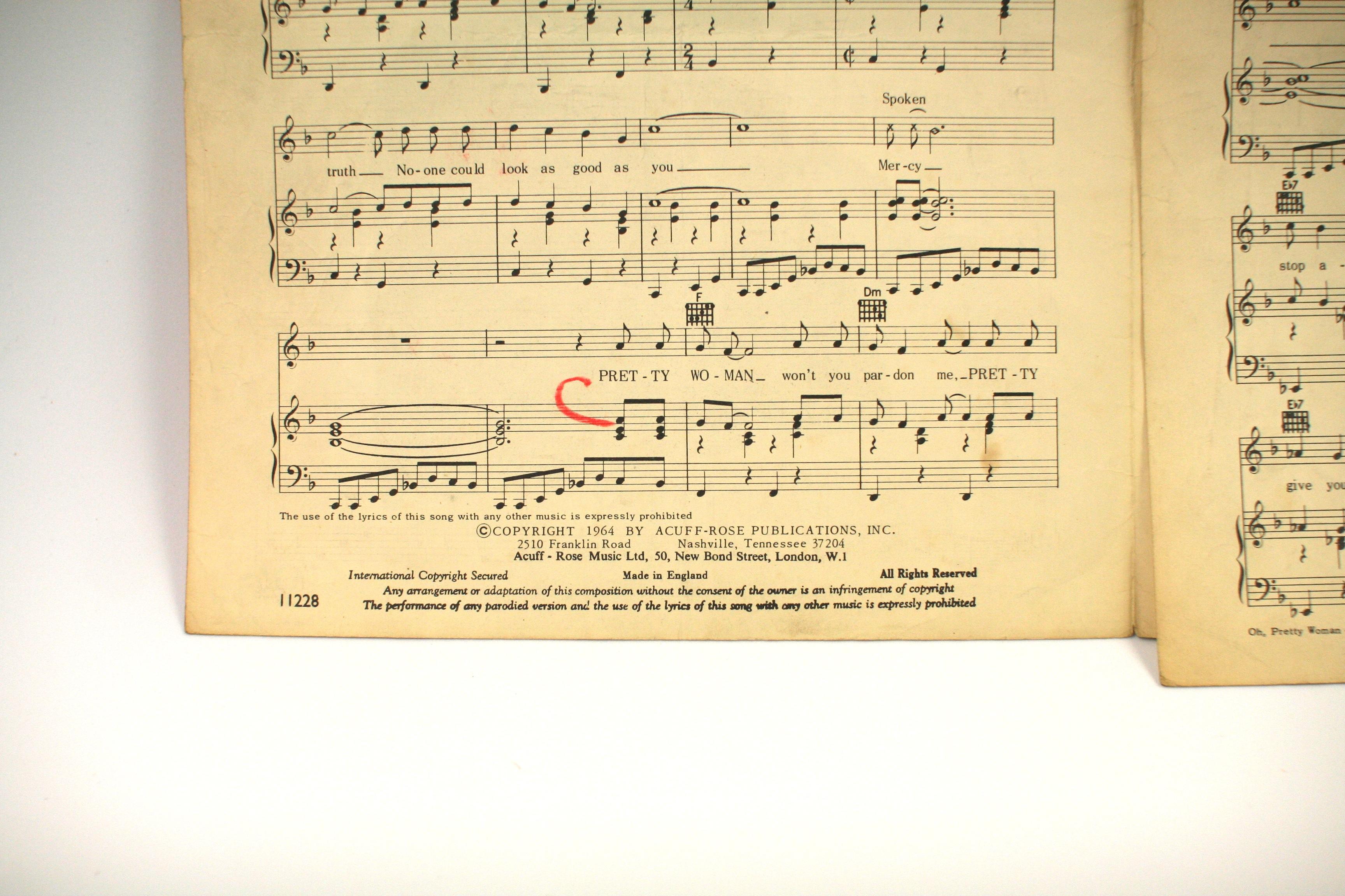 oh pretty woman sheet music pdf